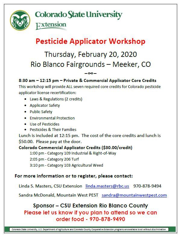 pesticide training Feb 20